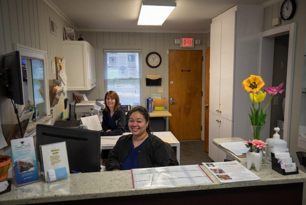 Jessica Roman & Barbara Lowe in Our Office